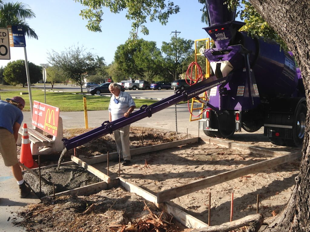 large load concrete delivery in Florida