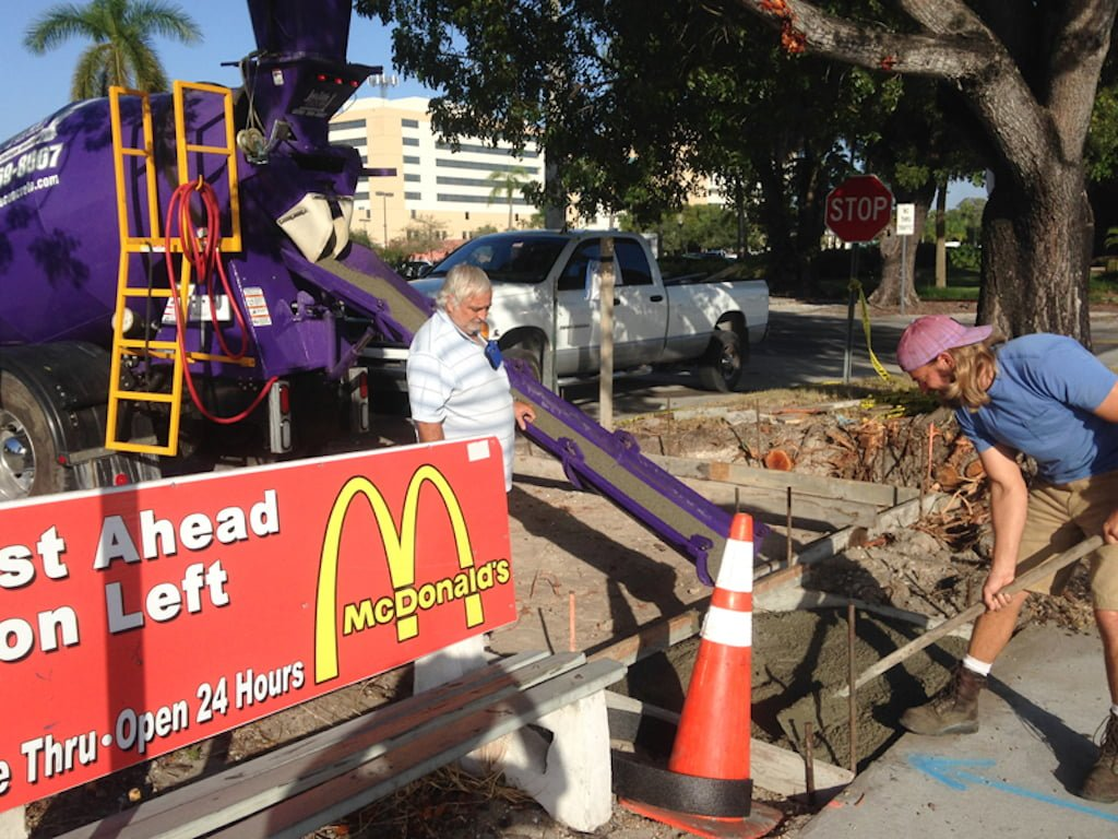 large load concrete delivery southwest florida